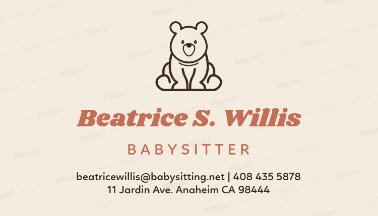 Placeit babysitter business card template with toy icon babysitter business card template with toy icon 256aforeground image flashek Gallery