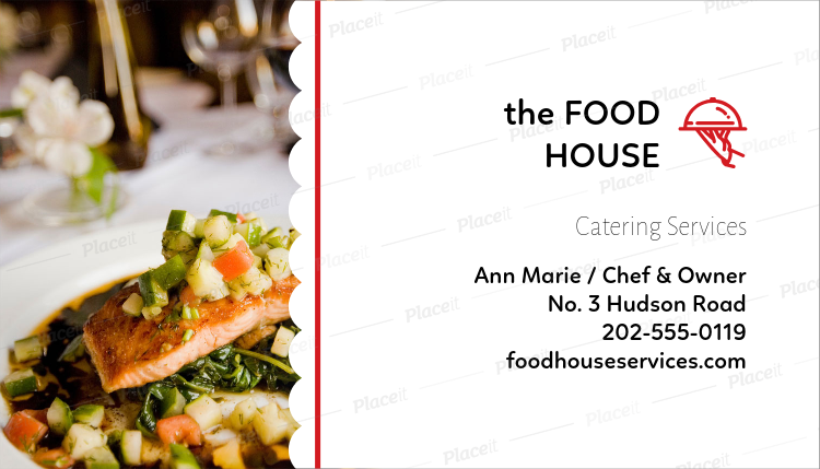 Placeit catering business card template catering business card template a107foreground image flashek Images