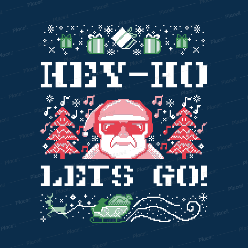 264ba061c Placeit - Ugly Christmas Sweater Template