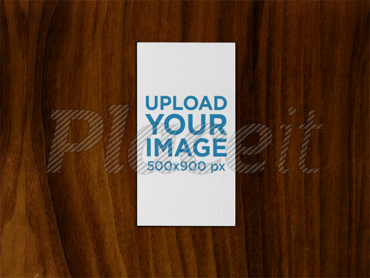 Placeit vertical business card mockup on a wooden surface vertical business card mockup on a wooden surface a15000foreground image reheart Image collections