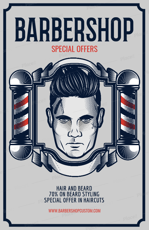 Placeit Flyer Template To Design A Barber Shop Flyer