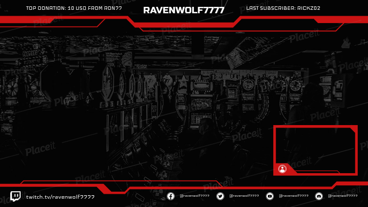 Twitch Overlay Maker with Webcam Frame 1245