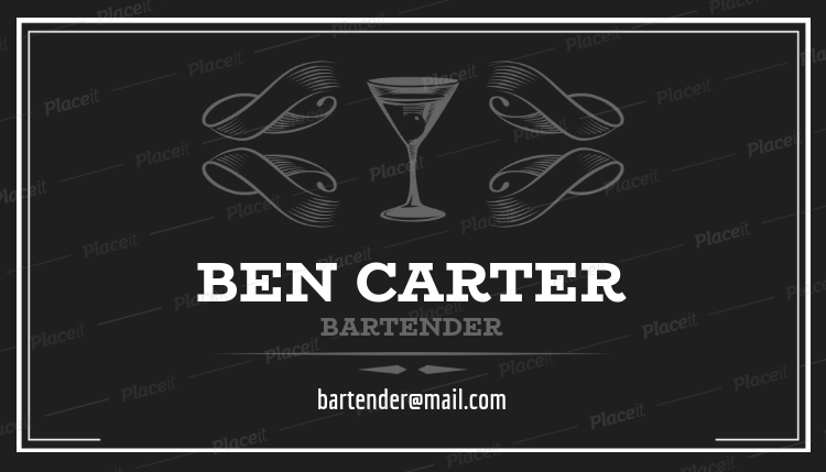 Placeit bartender business card template bartender business card template a162foreground image colourmoves
