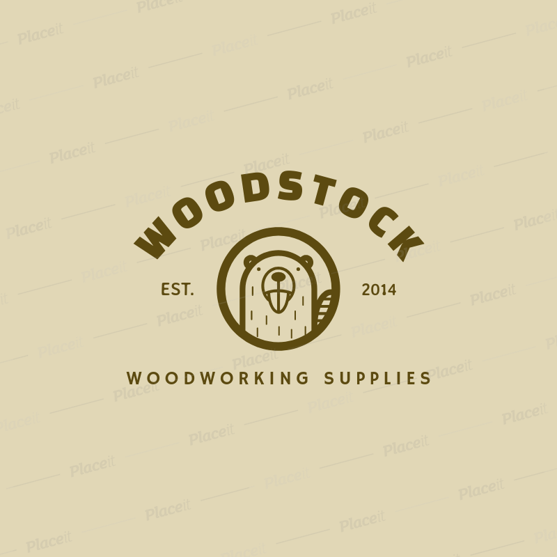 Placeit Woodwork Logo Maker For A Woodworking Supplies Company