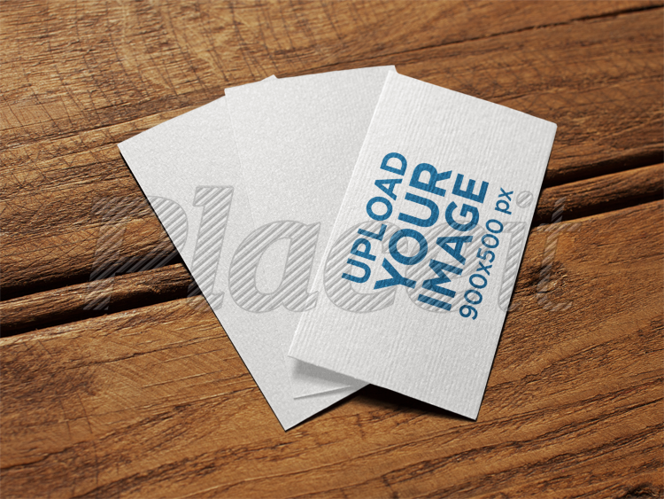 Placeit three black foil business cards mockup lying on a wooden three black foil business cards mockup lying on a wooden surface a14992foreground image reheart Gallery