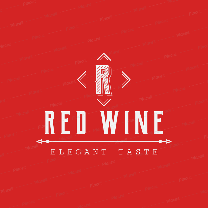 Wine Logo Maker with Capital Letter