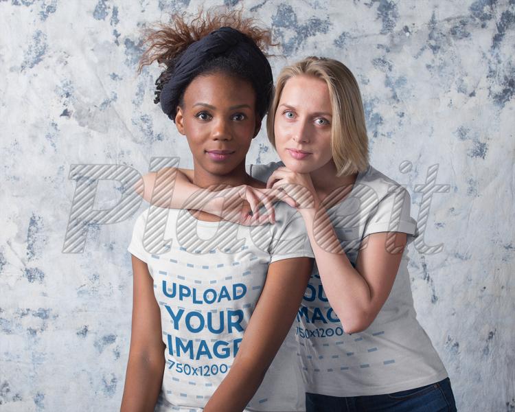 Lesbian interracial couple