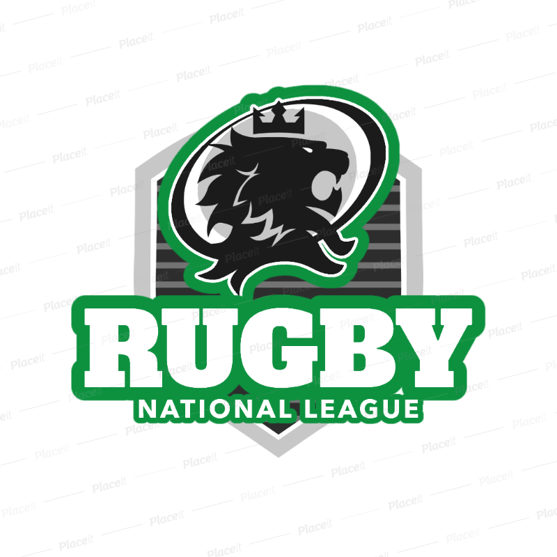 Placeit Sports Logo Maker For A Rugby League