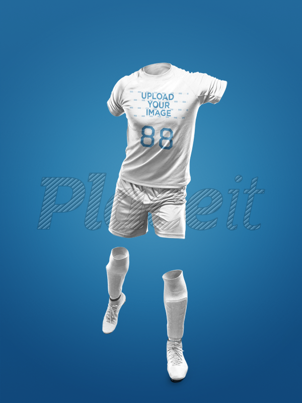 8a28497250f Custom Soccer Jerseys - Invisible Model Kicking a17269Foreground Image