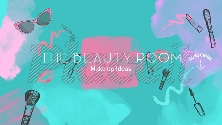 YouTube Banner Template for Beauty Channels 389f