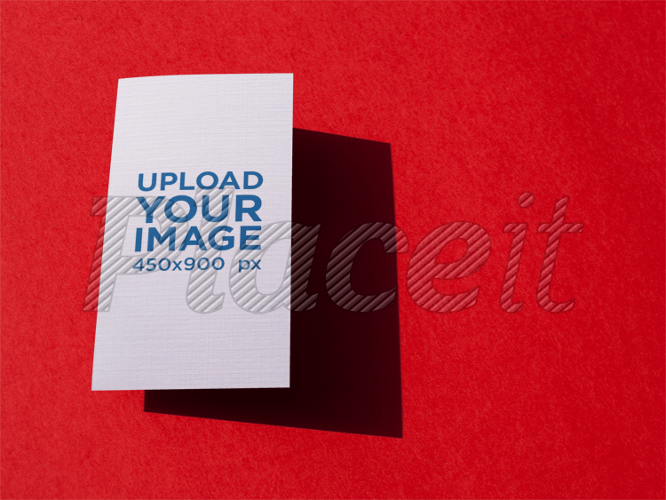 Placeit vertical business card template floating over a red surface vertical business card template floating over a red surface a15015foreground image flashek Gallery