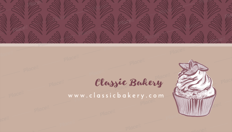 Placeit bakery business card maker for cupcake bakery business card maker for cupcake bakery 493bforeground image reheart Gallery