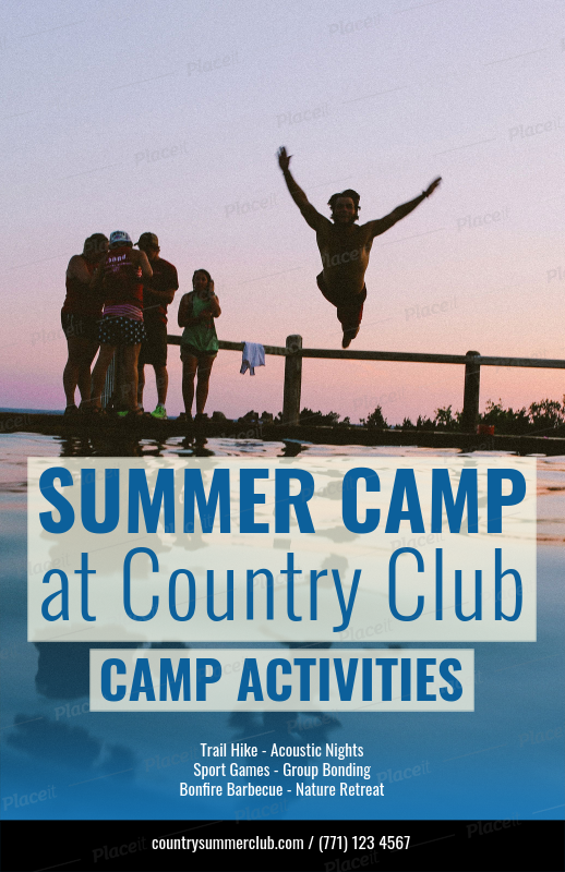 Placeit Flyer Template For Summer Camp Flyers
