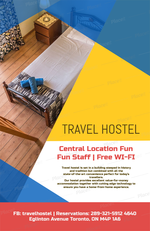 Placeit Flyer Template To Design A Hotel Flyer