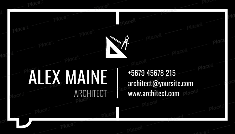 Placeit business card maker to design architect business cards architectecture business card maker a319foreground image colourmoves