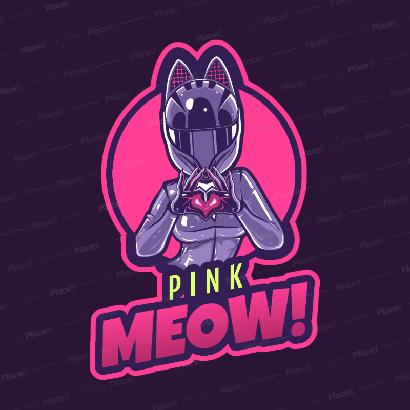 Fortnite-Style Gaming Logo Maker Featuring a Female Character with a Biker  Helmet 2398e 2407