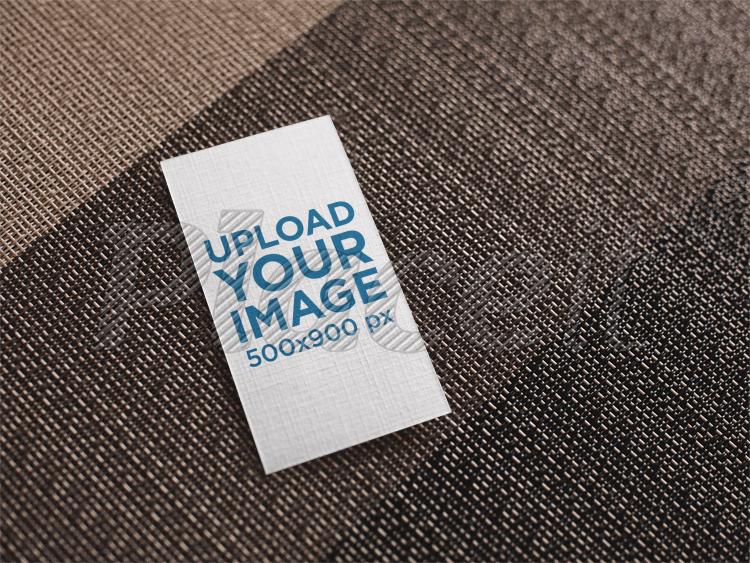 Business card t shirt mockup generator 5184 templates vertical business card mockup lying on a brown grayscale surface reheart Images