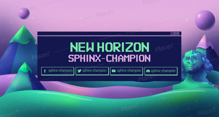 Twitch Banner Generator with a Retrowave Style Background 1503c