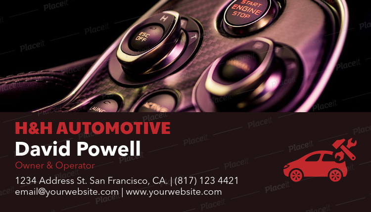 Placeit business card maker to design automotive business cards business card maker to design automotive business cards a158foreground image reheart Image collections