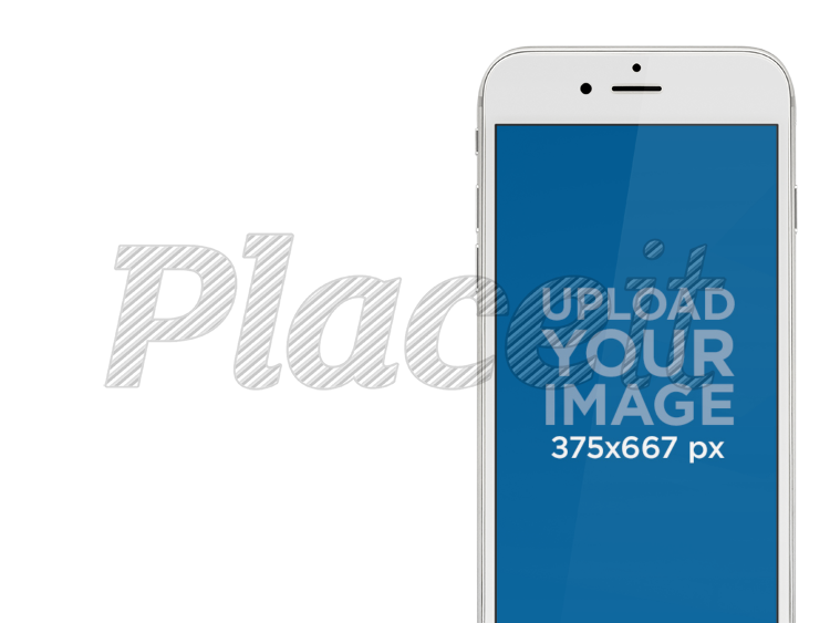 Placeit - White iPhone Mockup Template With Different Background ...