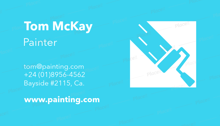 Placeit painter business card template painter business card template a116foreground image cheaphphosting Gallery