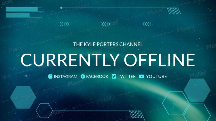 Placeit Twitch Offline Template For A Cool Twitch Account