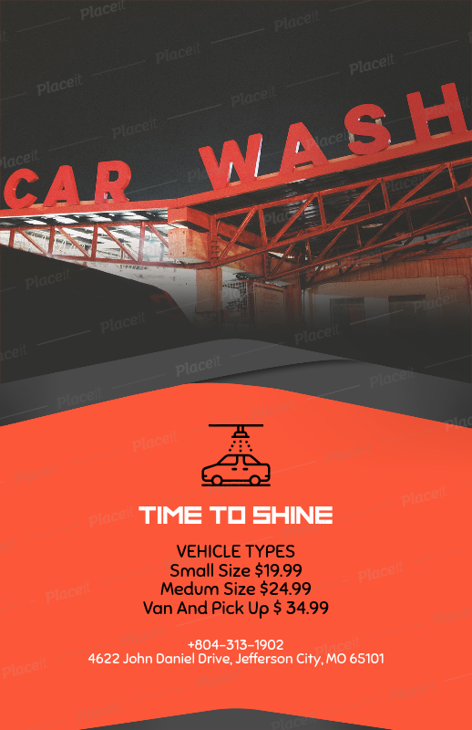 Placeit Flyer Template Maker For Automatic Car Wash With Car Photos