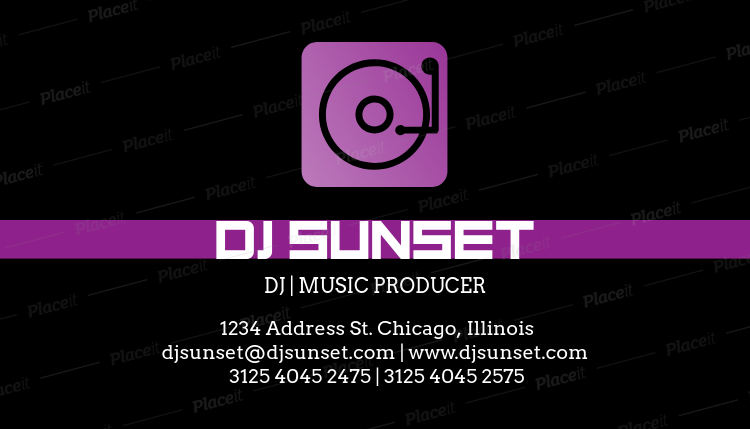 Placeit dj business card template dj business card template a130foreground image wajeb Image collections