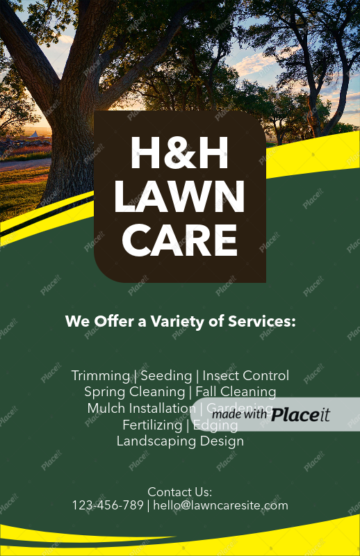 Placeit Flyer Template To Design A Landscaping Flyer