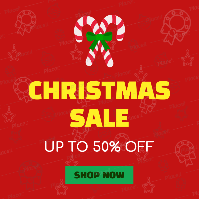 27a5b53138 Placeit - Christmas Sale Banner Generator with Candy Cane Icon