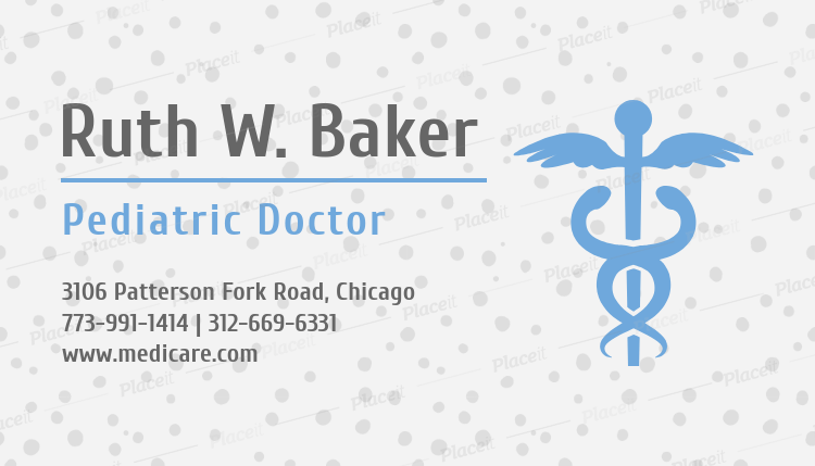 Placeit pediatrician business card maker with medical symbol pediatrician business card maker with medical symbol 336bforeground image colourmoves