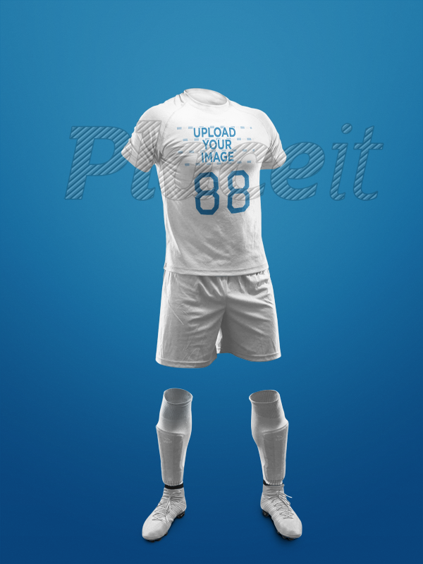 f32c36628f0 Custom Soccer Jerseys - Invisible Model Standing Against a Solid Background  a17270Foreground Image
