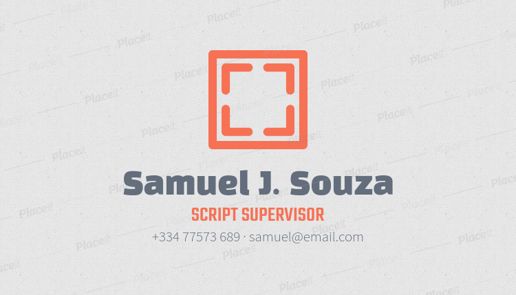 Placeit unique business card maker for script supervisors unique business card maker for script supervisors 207eforeground image reheart Image collections