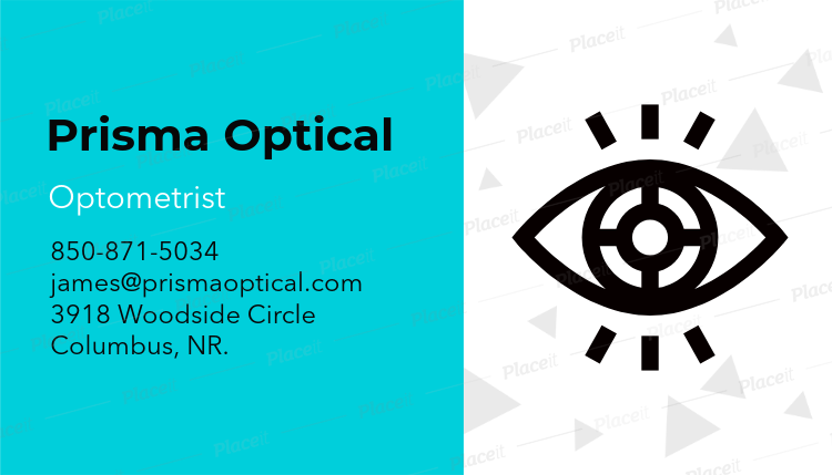 Placeit optometrist business card maker optometrist business card maker a145foreground image colourmoves