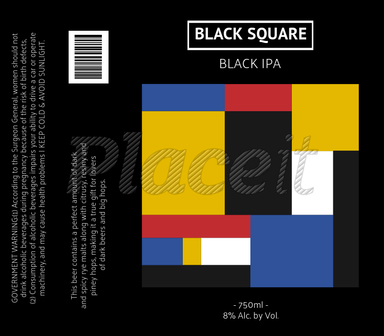 Custom Beer Labels Template With Modern Art Graphic 767bForeground Image