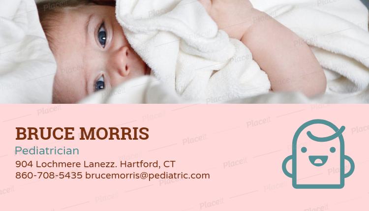 Placeit pediatrician business card maker pediatrician business card maker 135e foreground image colourmoves