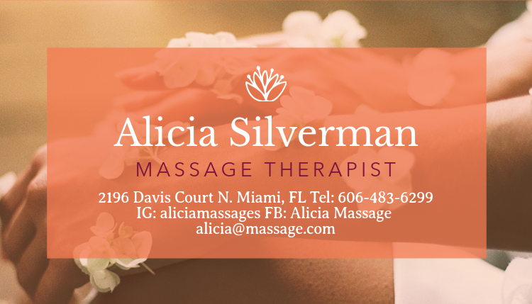 Placeit business card maker to design massage therapist business cards business card maker to design massage therapist business cards a195foreground image reheart Gallery