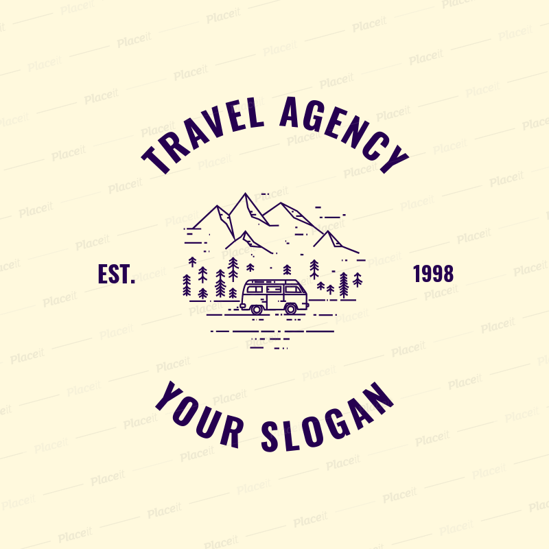 Placeit Logo Maker For Wilderness Travel Agency