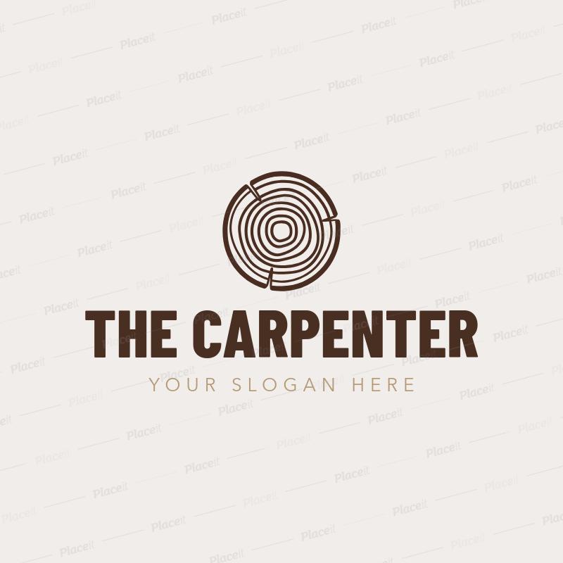 Placeit Logo Maker To A Design A Carpenter Logo