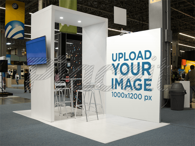 Exhibition Stand Mockup Free Psd : Placeit expo stand mockup with a vertical banner