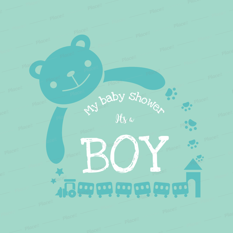 Placeit Baby Shower Shirts Template