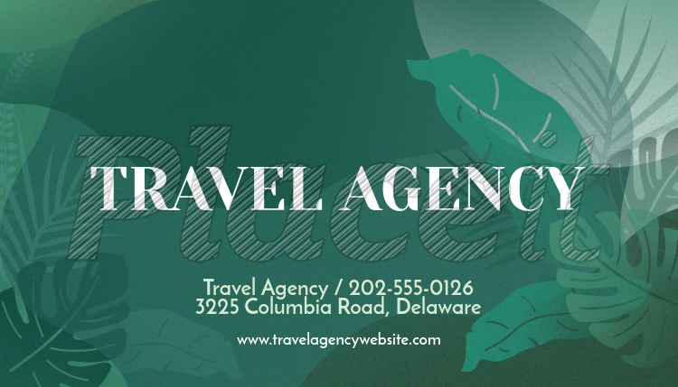 Placeit travel agency business card template with green graphics travel agency business card template with green graphics 262e foreground image reheart Images