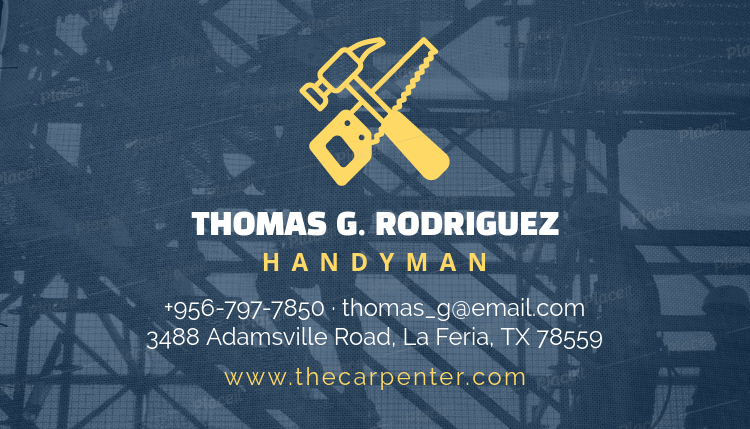 Placeit handyman business card template handyman business card template 491aforeground image fbccfo Choice Image