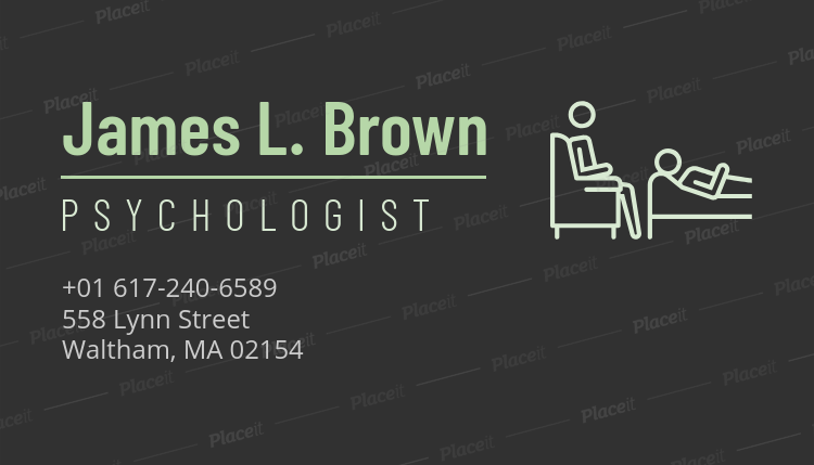 Placeit psychotherapist business card template with clean design psychotherapist business card template with clean design 189dforeground image colourmoves