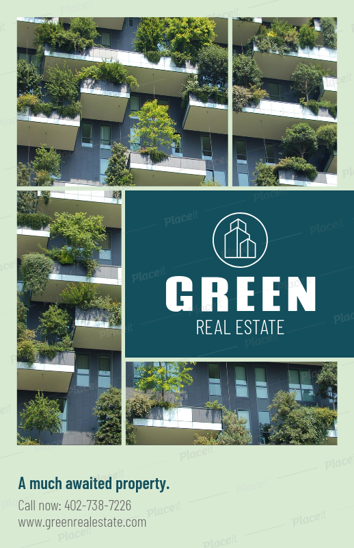 Placeit - Open House Flyer Template for Green Real Estate