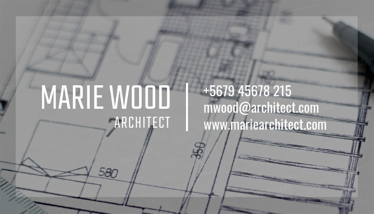 Placeit architect business card maker with blueprint background architect business card maker with blueprint background 303aforeground image malvernweather Image collections