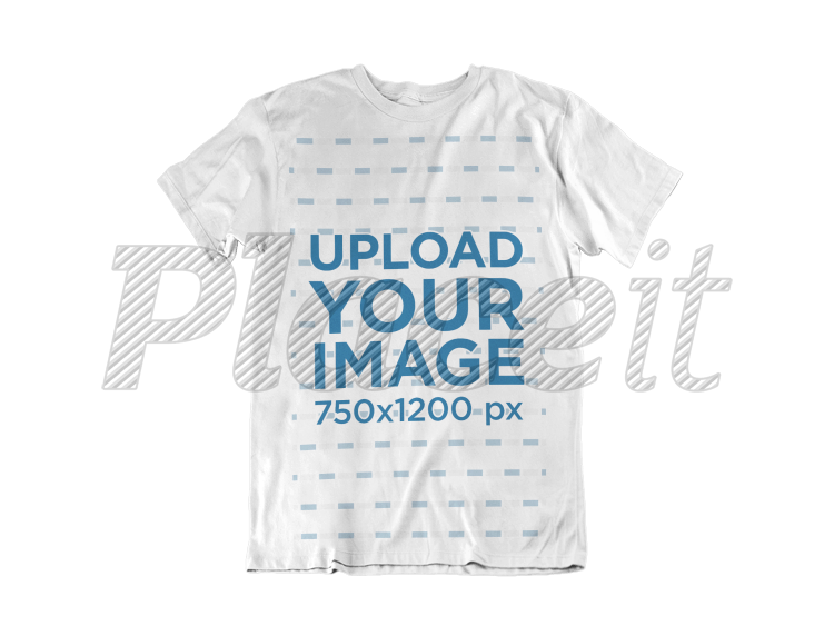 clothing mockup of a t shirt over a flat backdrop a17240