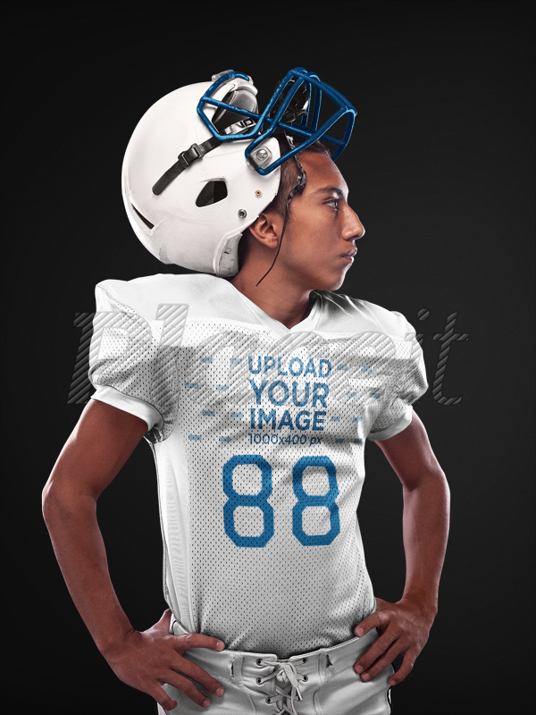 5496e2ac5ac Placeit - Custom Football Jerseys - Hispanic Man Posing