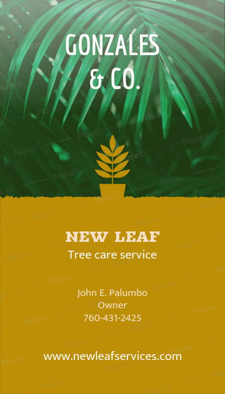 Placeit online business card maker for landscaper with leaf icon online business card maker for landscaper with leaf icon 124e foreground image colourmoves