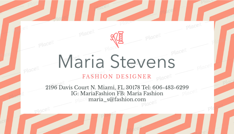 Placeit fashion designer business card maker fashion designer business card maker a138foreground image reheart Gallery
